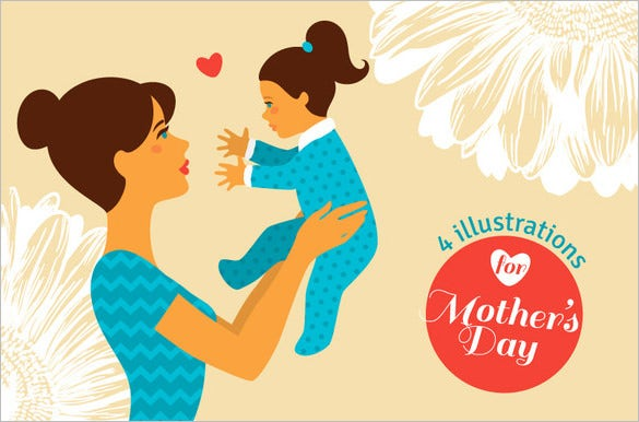 mothers day eps card template download