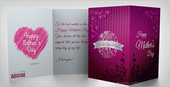 photoshop mothers day card template download