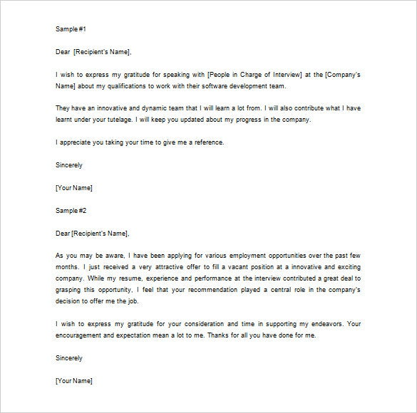 letter of recommendation thank you   Hadi.palmex.co