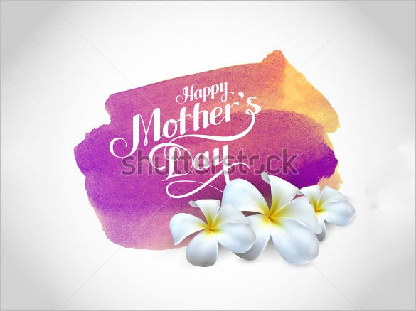 example of a mothers day card template