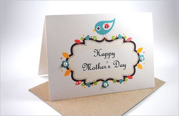 cute template for mothers day card downlod