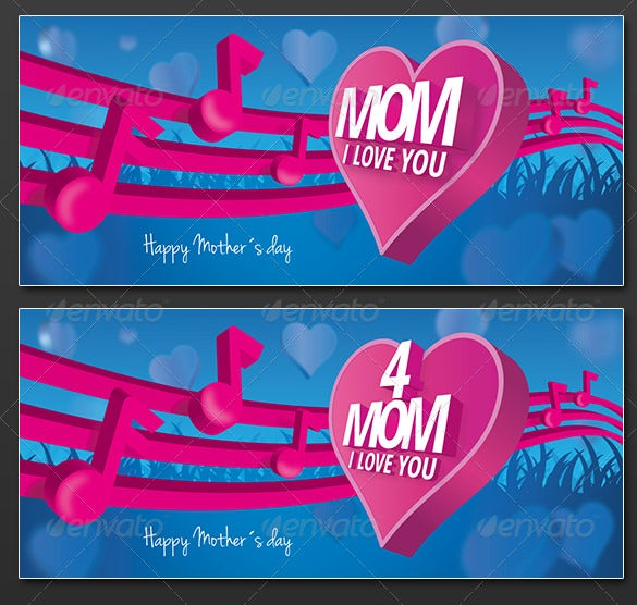 psd mothers day card template download
