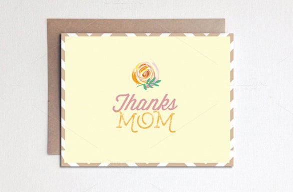 mothers day card example template download