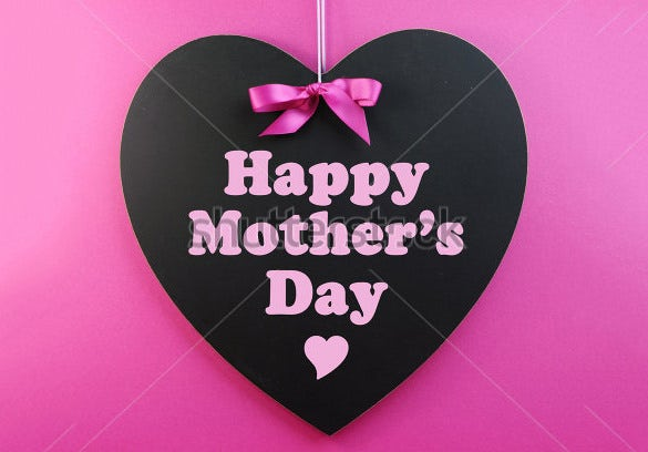 heart shaped card template for mothers day