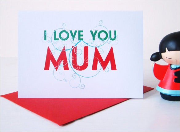 mothers day card sample template download