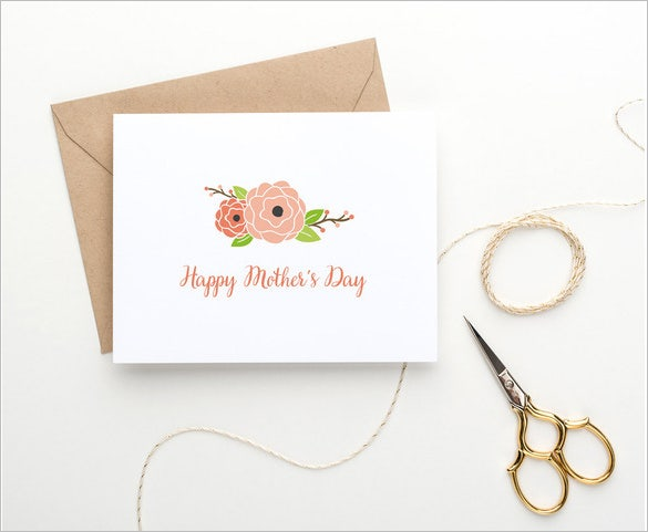 sample of a mothers day card template