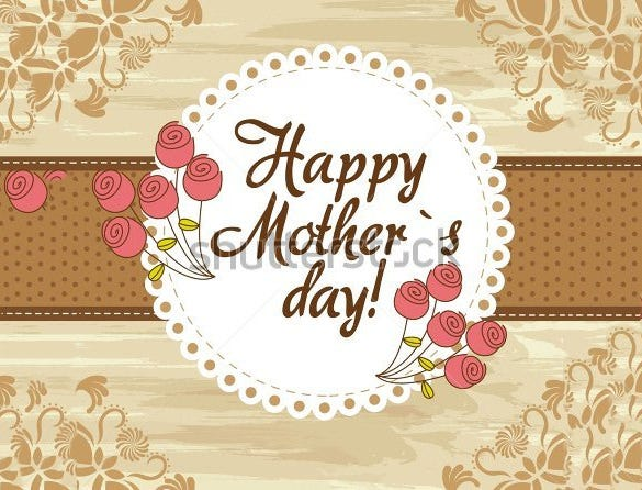 Mothers Day Card Template   Free Printable Sample Example