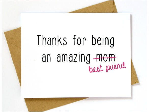 amazing mothers day card template download