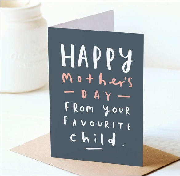 fantastic template for mothers day card template