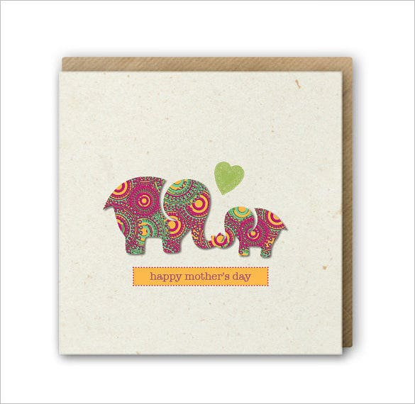 elephant mothers day card download