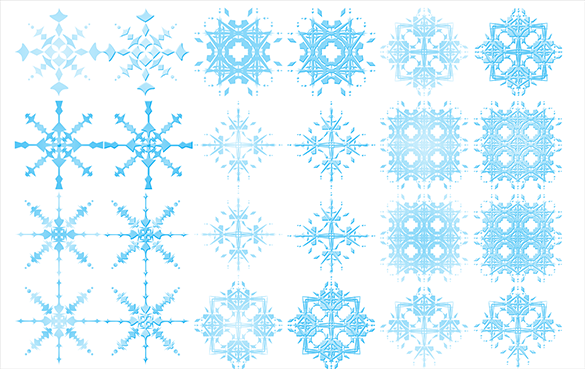 24 extraordinary free snowflake brushes download
