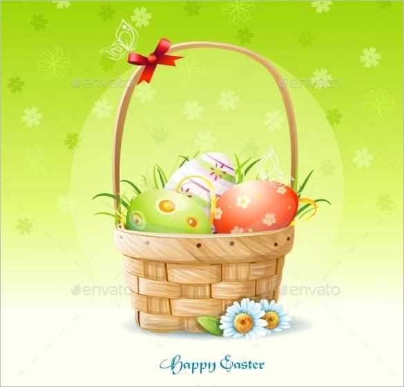 easter card vector eps template downlaod