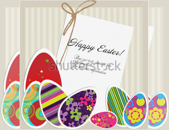 example of easter card template