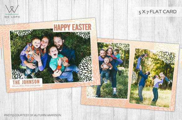 happy family easter card template downlaod