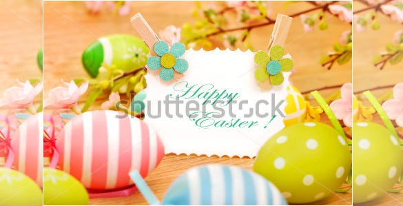 colorful card template for easter
