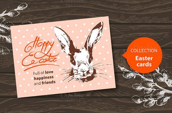 happy easter card eps template download
