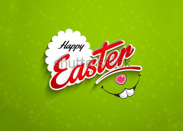 happy easter card with green background download