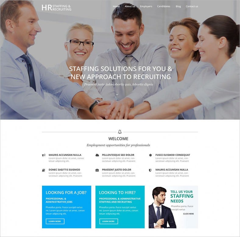 hr recruiting wordpress theme 788x780