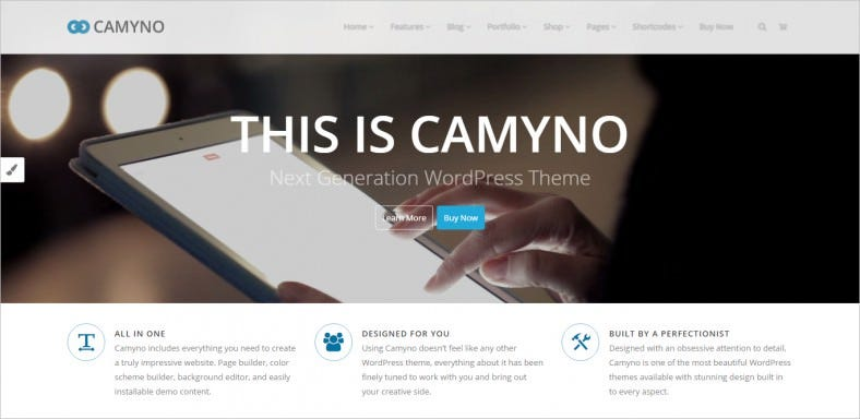 camyno premium wordpress theme 788x384