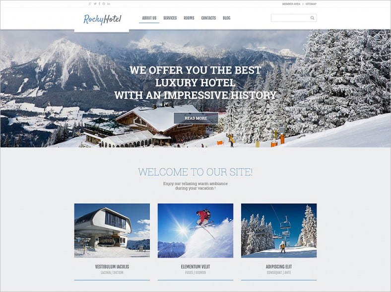 hotels responsive wordpress theme 788x588