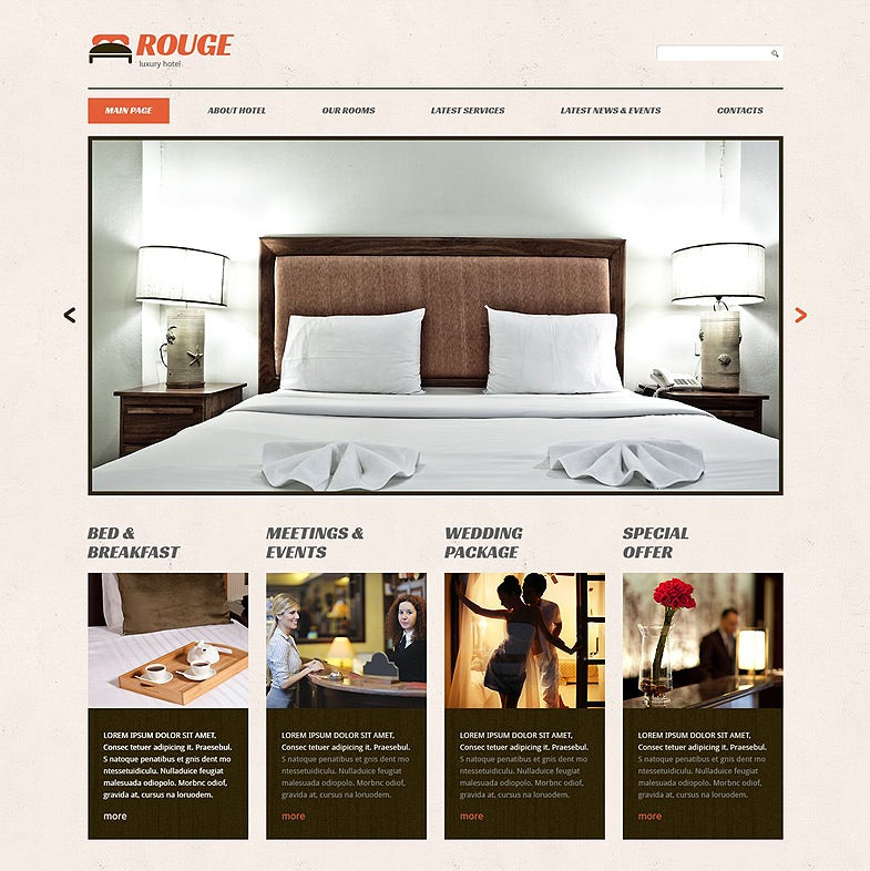 hotels responsive wordpress theme 2