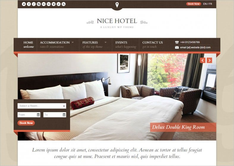 nice hotel wordpress theme 788x558