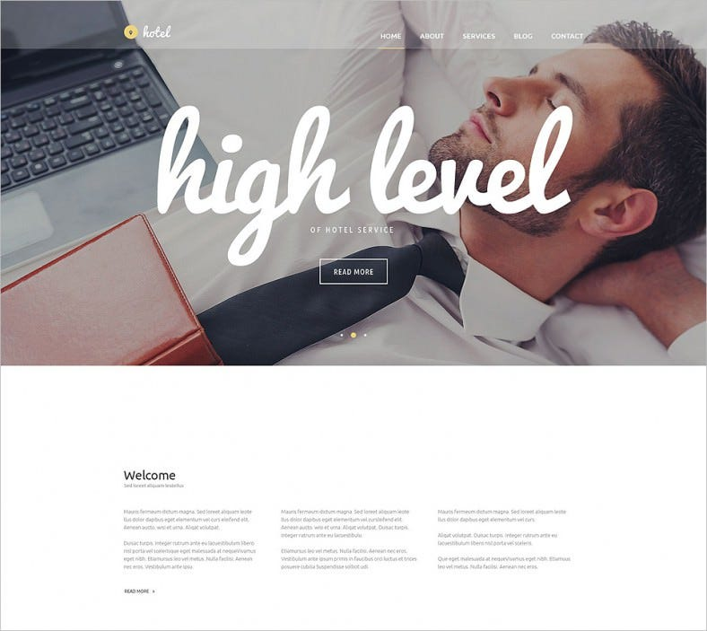 hotel business wordpress theme 788x703