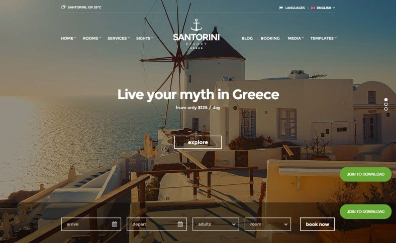 santorini resort hotel theme 788x485