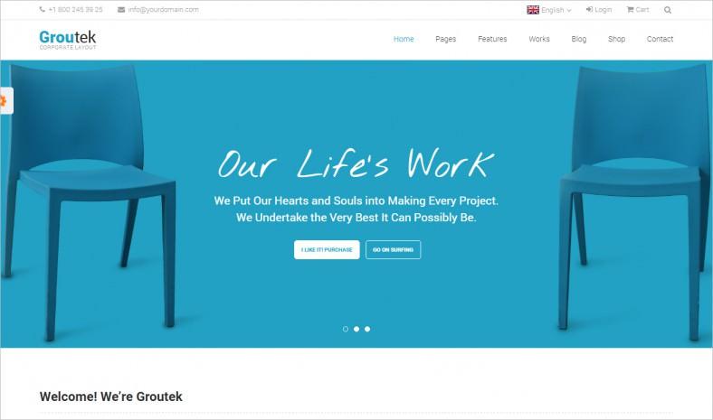 groutek creative multipurpose website template 788x465