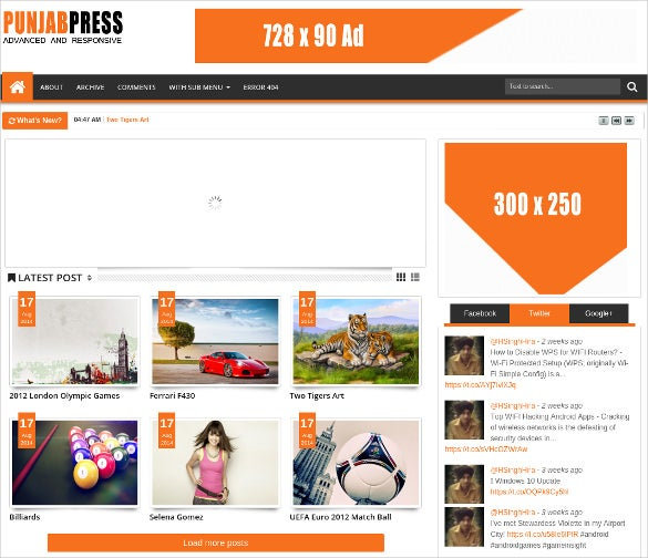 simple responsive blogger template for free1
