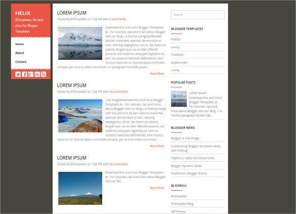 free elagant blog theme
