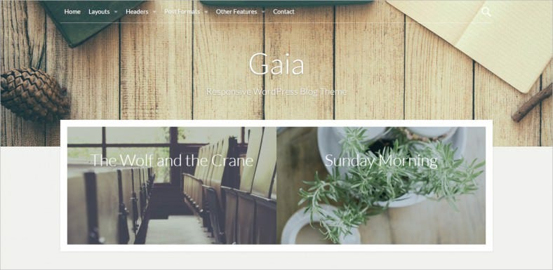 gaia wordpress blog theme 788x385