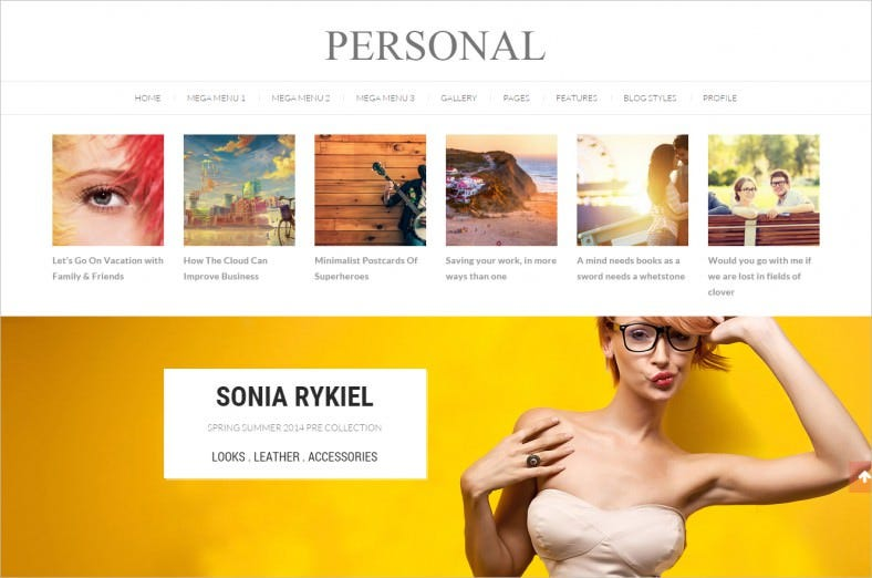 personal best blog cv and video wordpress theme 788x522