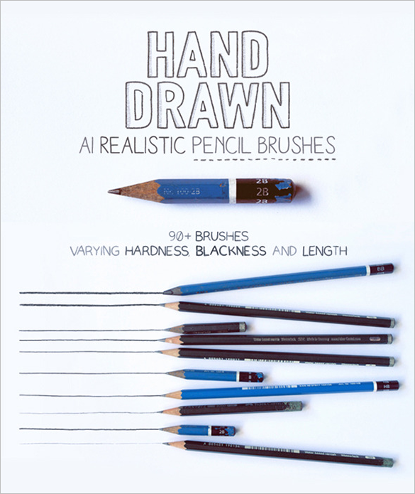 92 amazing premium pencil photoshop brushes