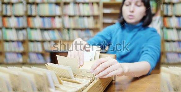 librarian card template download