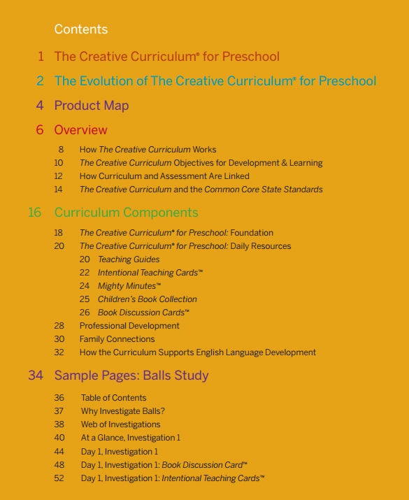 preschool curriculum lesson plan template