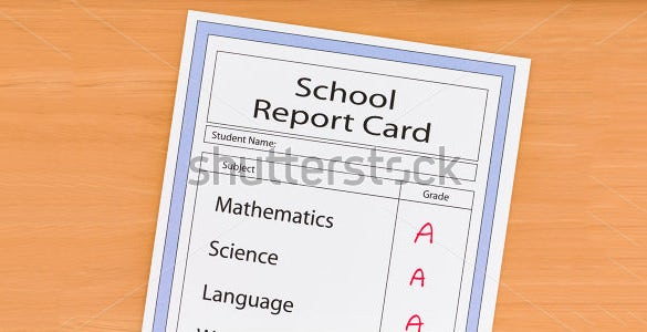 12+ Report Card Templates – Free Sample, Example, Format Download