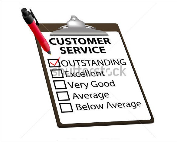 customer service report card template download