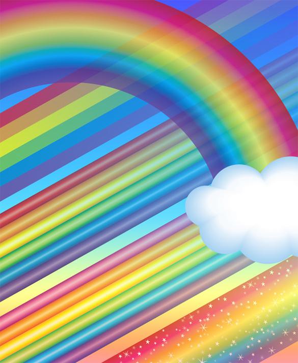 5 amazing premium rainbow photoshop brushes