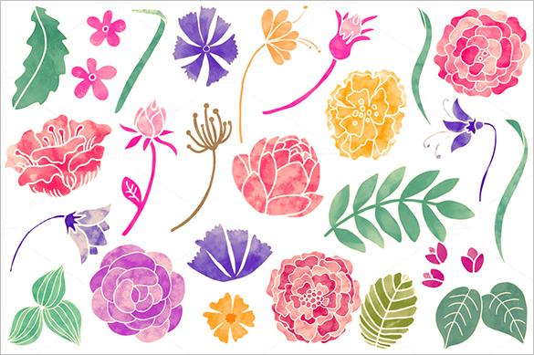 55 premium hand painted floral photoshop brushes