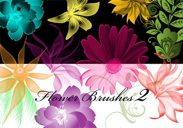 43 whimsical artwork floral photoshop brushes for free