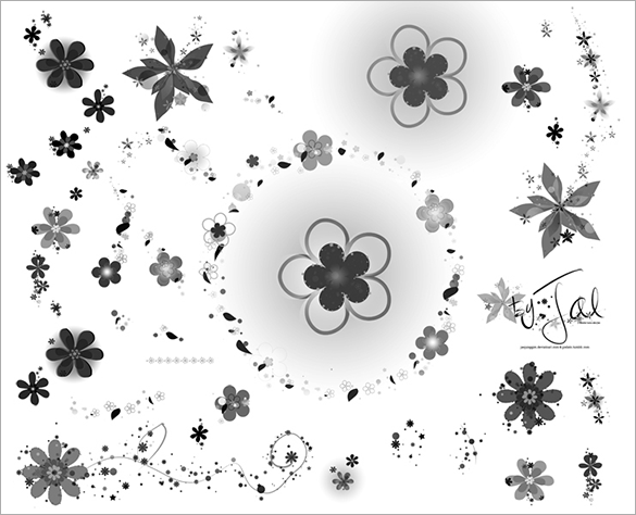 33 free floral photoshop brushes download