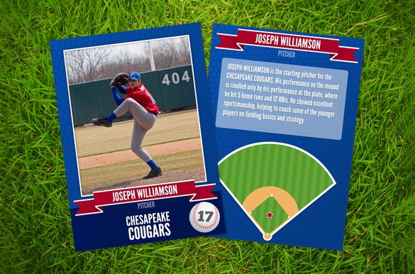 trading card template for baseball