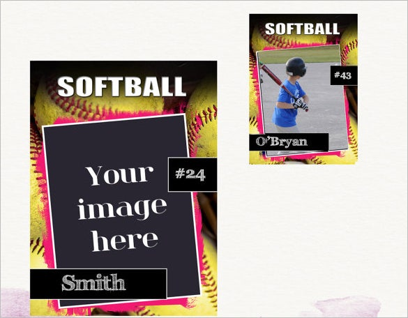 Trading Card Template   Free Printable Sample Example Format