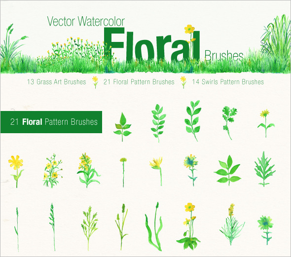 21 floral photoshop brushes premium download
