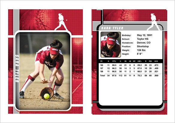 sports trading card template download