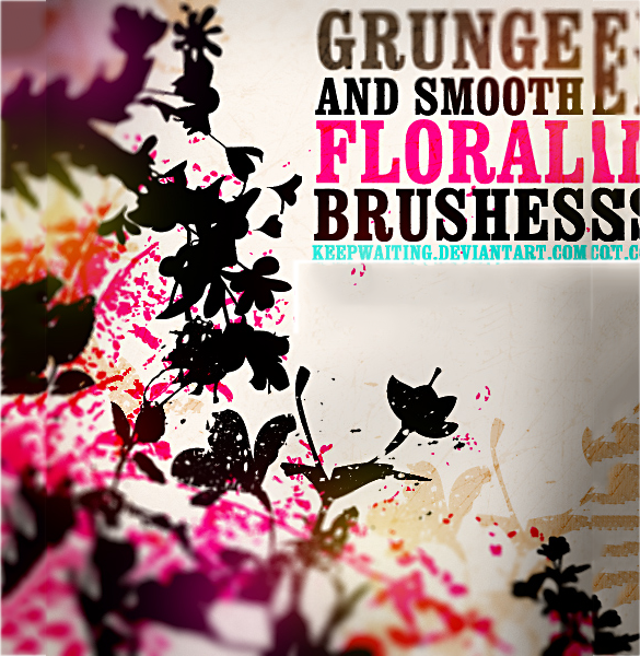 67 free fantastic floral photoshop brushes