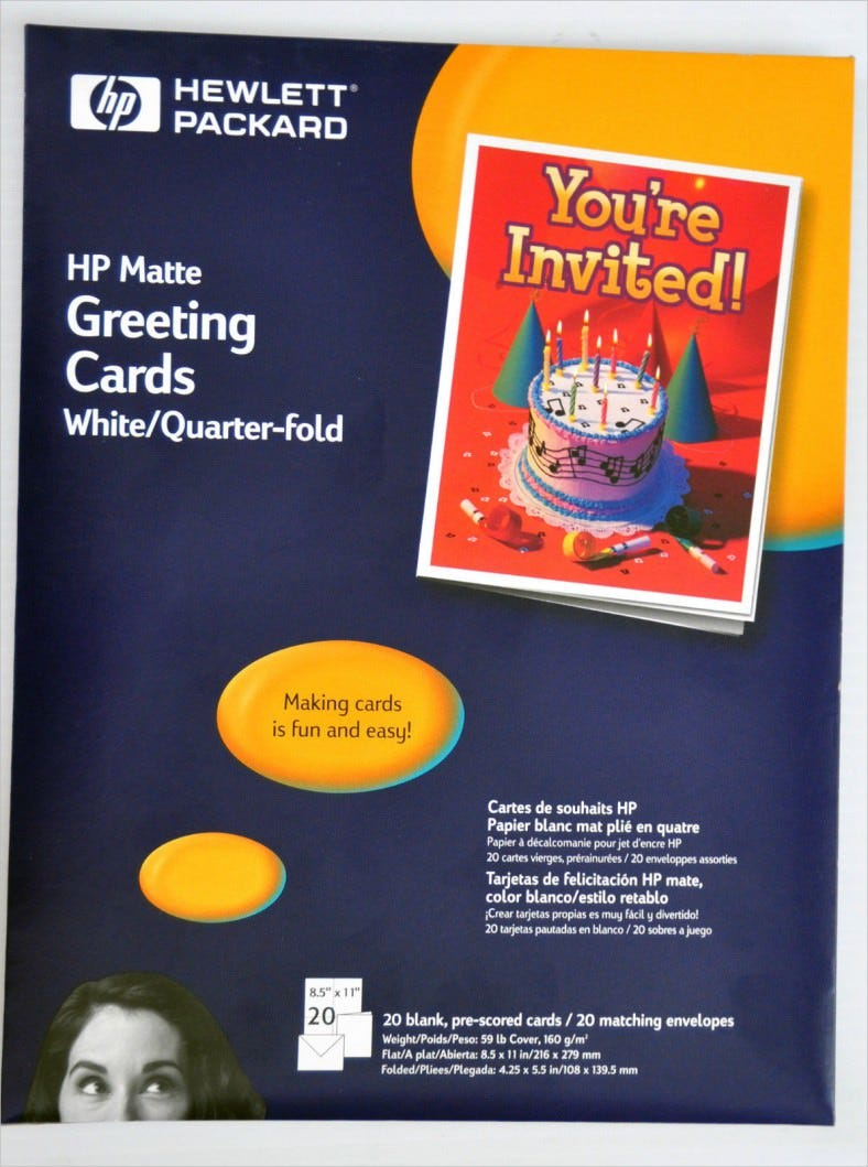 image relating to Hewlett Packard Printable Cards identify 4+ Quarter Fold Card Templates - PSD, AI, EPS Free of charge