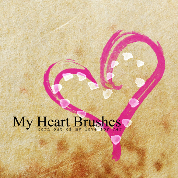 18 astonishing heart photoshop brushes for free