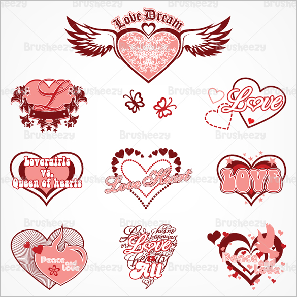 10 premium love and heart brushes download